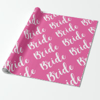 Bridal Shower Wedding Present Wrapping Paper