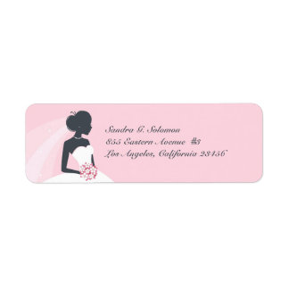 Bridal Shower Wedding Return Address Labels