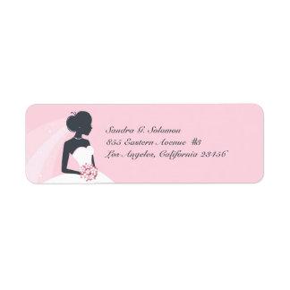Bridal Shower Wedding Return Address Labels