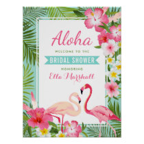 Bridal Shower Welcome Sign | Tropical Flamingo