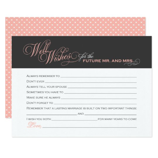 Wedding Shower Gift Card Messages : Bridal Shower Well Wishes Cards Zazzle