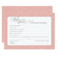 Bridal Shower Well Wishes Cards