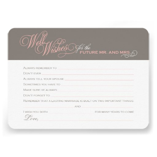 Bridal Shower Well Wishes Cards 45 X 625 Invitation Card