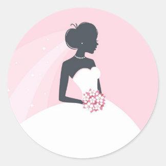 Bridal Shower White dress Sticker