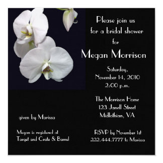 Bridal Shower White Orchid Invitation