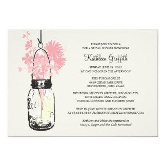 Bridal Shower Wildflowers & Mason Jar Card