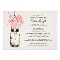 Bridal Shower Wildflowers & Mason Jar Personalized Invite
