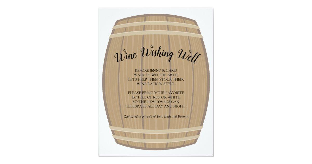 Bridal Shower Wine Wishing Well Card Zazzle Com