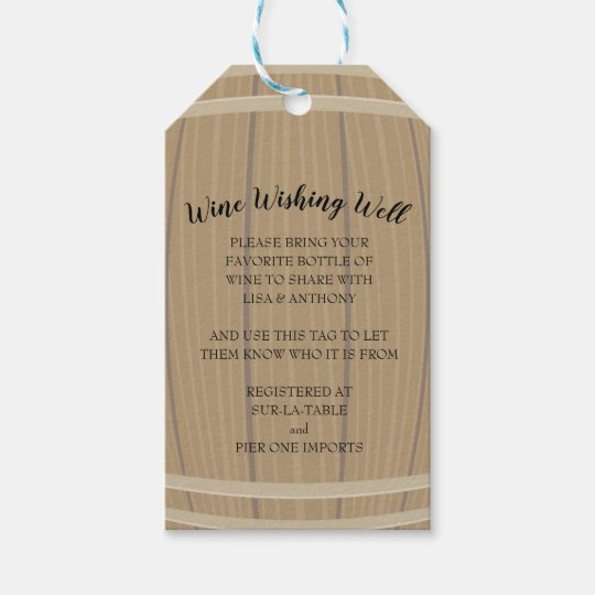 bridal shower wine wishing well insert and gift ta gift tags