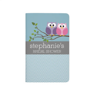 Bridal Shower with Owl Couple on Branch Journal
