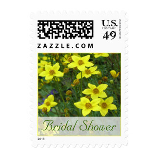Bridal Shower yellow flowers Stamps