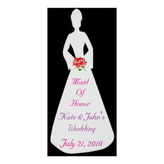 Bridal Silhouette I Maid Of Honor Poster