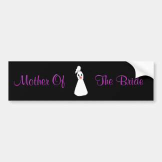 Bridal Silhouette II Mother Of The Bride Bumper Sticker