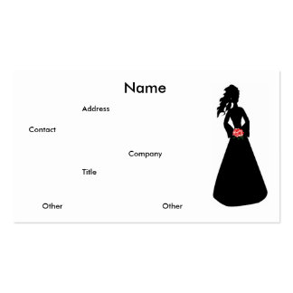 Bridal Silhouette III Business Card Business Card Template
