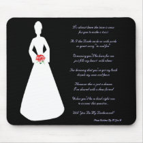 Bridal Silhouette Will You Be My Bridesmaid Mouse Pad
