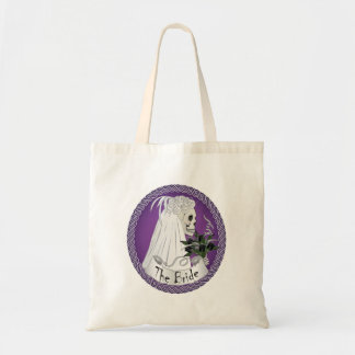Bridal Skull - purple Tote Bag