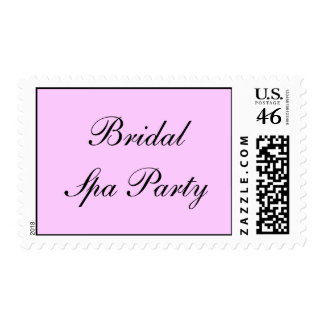 Bridal Spa Party Postage Stamp