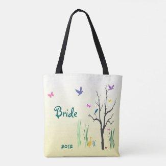 Bridal Springtime Wedding Tote Bag
