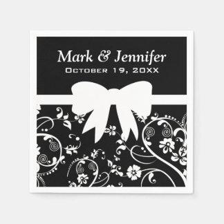 Bridal Swirls White Paper Napkins