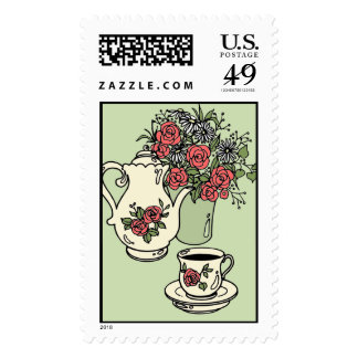 Bridal Tea - Customizable Colors! Postage Stamps