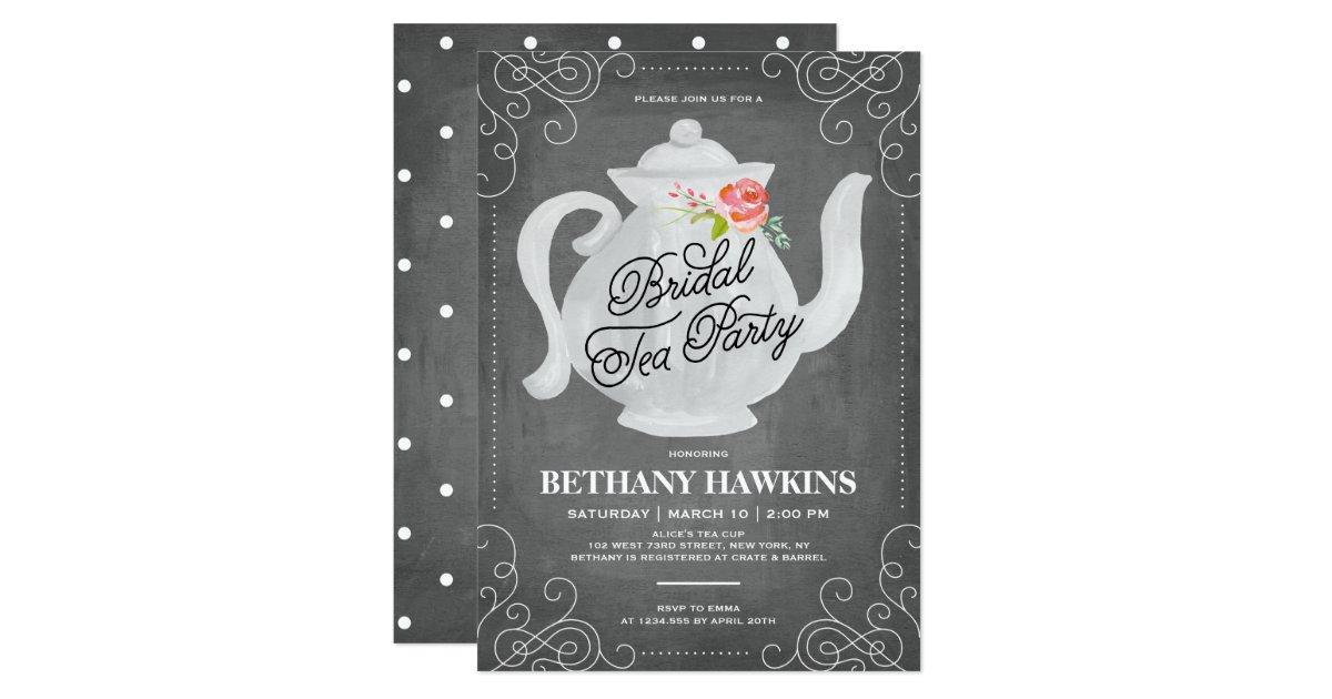 Bridal Shower Invitations Announcements – Tea Party Bridal Shower Invitations