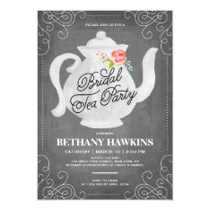 Bridal Tea Party | Bridal Shower Card at Zazzle