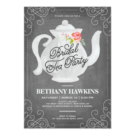 Bridal Tea Party Shower Invitation