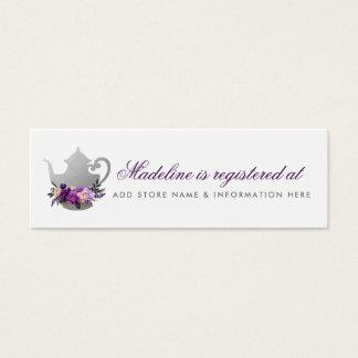 Bridal Tea Party Purple Registry Insert Card