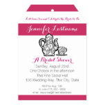Bridal Tea Party with Color Choice 5x7 Paper Invitation Card