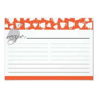 Bridal Tea Recipe Card - Orange
