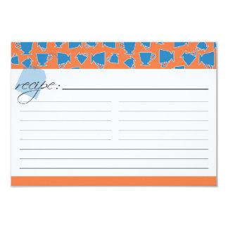 Bridal Tea Recipe Card - Orange and Blue