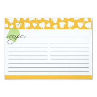 "Bridal Tea Recipe Card - Orange 3.5"" X 5"" Invitation Card"