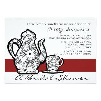 "Bridal Tea Shower 5"" X 7"" Invitation Card"