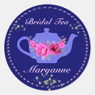 Bridal Tea Stickers Pink Flower Bouquet
