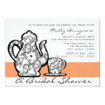 "Bridal Tea with Changable Color 5"" X 7"" Invitation Card"