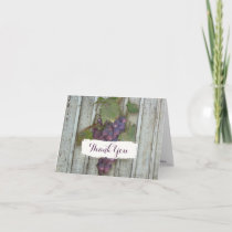 Bridal Thank You Note Rustic Country Wine Vineyard