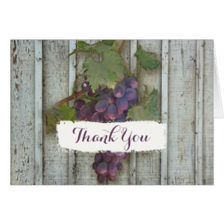 Bridal Thank You Note Rustic Country Wine Vineyard Card