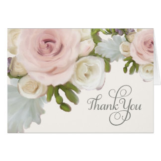 Bridal Thank You Notes Pretty Pastel Roses Artwork