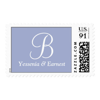 Bridal Theme Invitations Larger Postage Stamps
