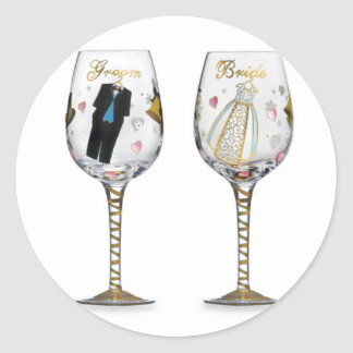 BRIDAL TOASTING GLASSES STICKER