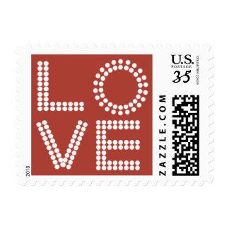 Bridal Traditional Love Design Pale Carmine Postage Stamp