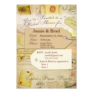travel theme invitations  announcements  zazzle, Bridal shower invitations