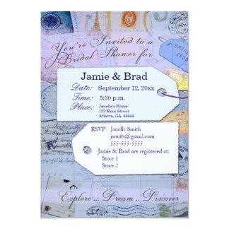 Bridal Travel Shower Theme in light blue Card