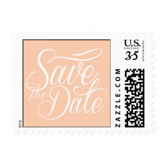 Bridal Trends Save The Date Design Apricot Postage