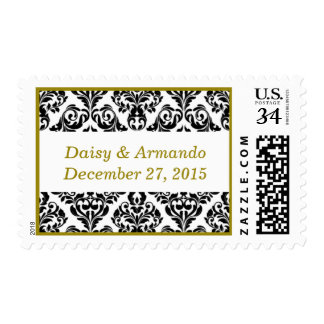 Bridal Unique Damask Dark Yellow Postage