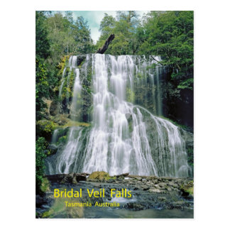 Bridal Veil Falls, Tasmania, Australia Postcard