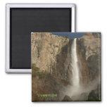 Bridal Veil Falls, Yosemite 2 Inch Square Magnet