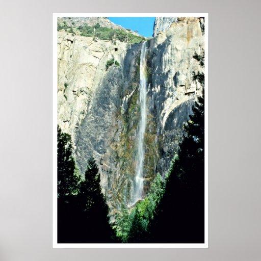 Bridal Veil Falls - Yosemite National Park Poster