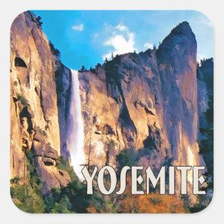 Bridal Veil Falls Yosemite National Park Square Stickers