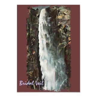Bridal Veil Falls, Yosemite Vintage Invitation